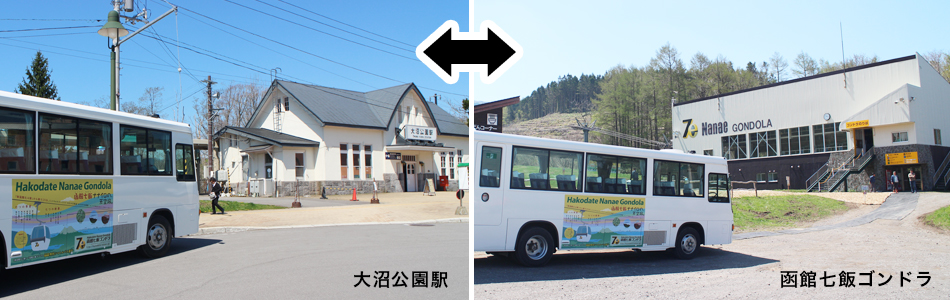 大沼公園駅〜函館七飯ゴンドラ間