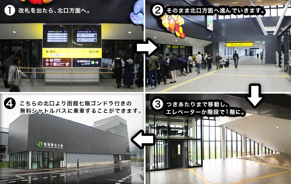 新函館北斗駅[北口]までのルート