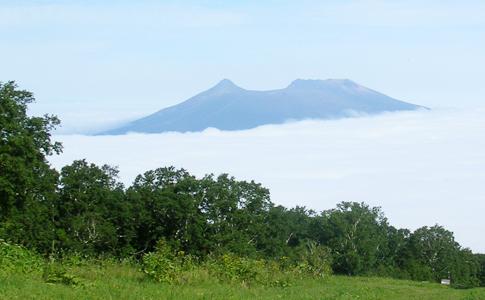 從山頂看到的雲海