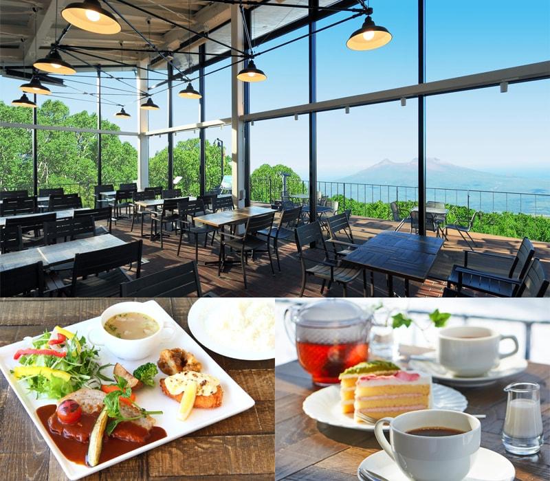 絶景を一望の山頂カフェ「PEAK CAFE」